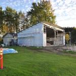 Träningsstudion har fått väggar och tak